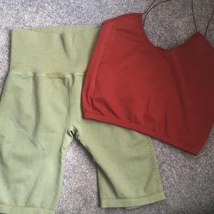 NWOT Free People shorts and brami